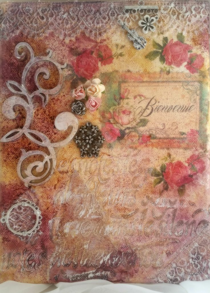 """Handmade """"Bienvenue"""" mixed media on canvas https://coloursofmyroom.com/2016/03/28/greeting-your-guests-with-warmth-try-bienvenue/"""