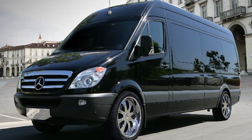 14 Passenger Mercedes Sprinter Limousine Limo Wedding Bus >> by Saintrop.com, the Nirvanesque Cote d'Azur.