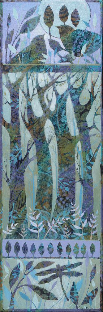 8x24 acrylic painting by Sue Davis