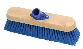 """12"""" Soft Platform Broom Head C/W Socket. PVC broom heads provide an excellent sweeping performance with the added benefit that they can be used wet or dry. 300mm (12 inch) PVC bristle broom head."""