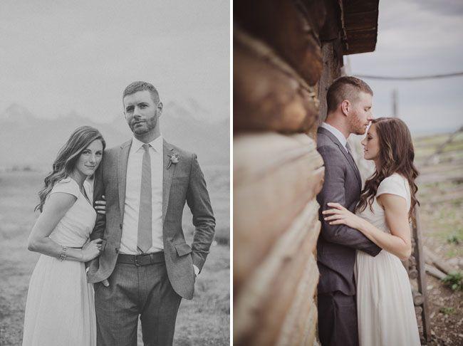 Grand Tetons wedding portrait