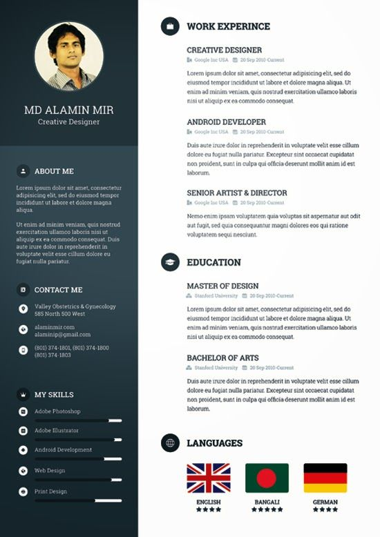 descarga plantilla gratis curriculum vitae creativo download free creative resume templatesfree - Creative Resumes Templates Free