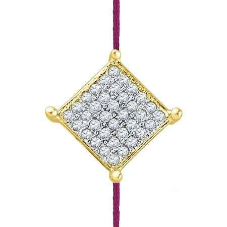 Jpearls 0.120 Carat #Diamond #Rakhi. Rs. 4269.  Get our exquisite Jewellery for Raksha Bandhan today!