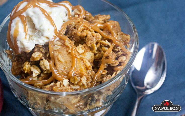 Apple Crumble with Ginger Infused Maple Syrup