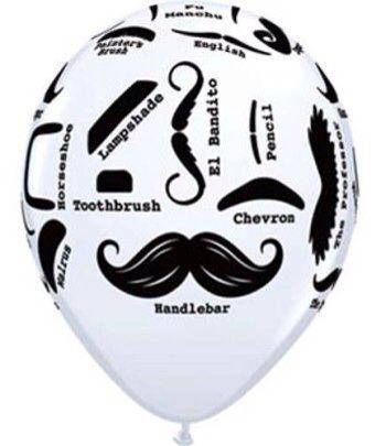 Moustache balloon  www.qualitytimepartysupplies.com.au