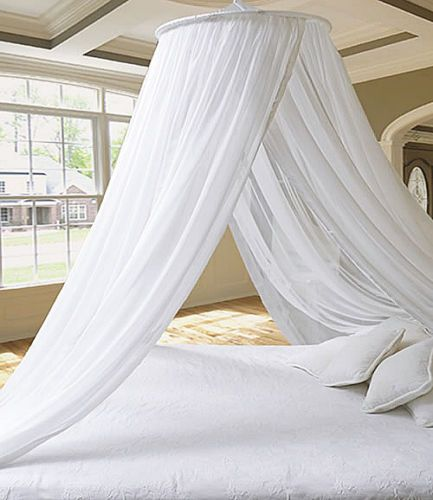 DREAMMA-White-Round-Mosquito-Net-Princess-Bed-Canopy-Bedroom-Curtain-Cover-Gauze