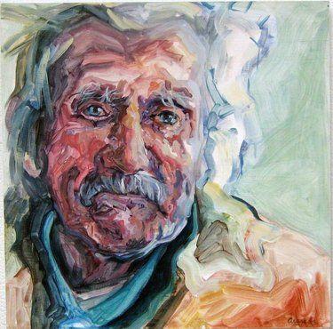 Saatchi Online Artist Andrea Araneda; Painting, Hugo Andrade. Trabajador de campo. Tierra del Fuego. #art
