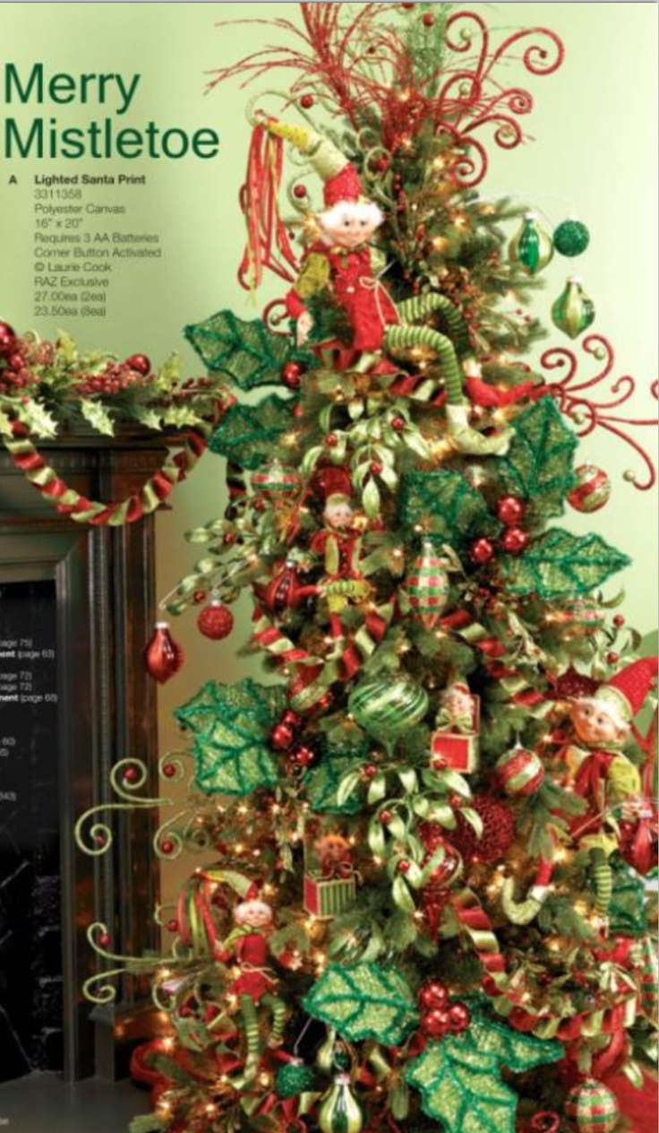 Pictures Of Christmas Trees Decorated With Ribbon
