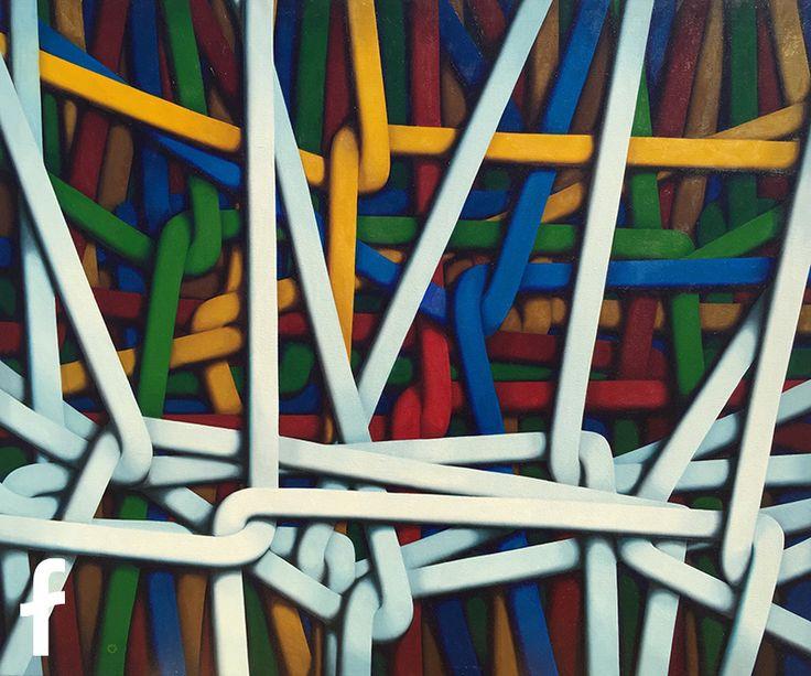 Carlo Petrini olio su tela - artista contemporaneo figurativo trieste