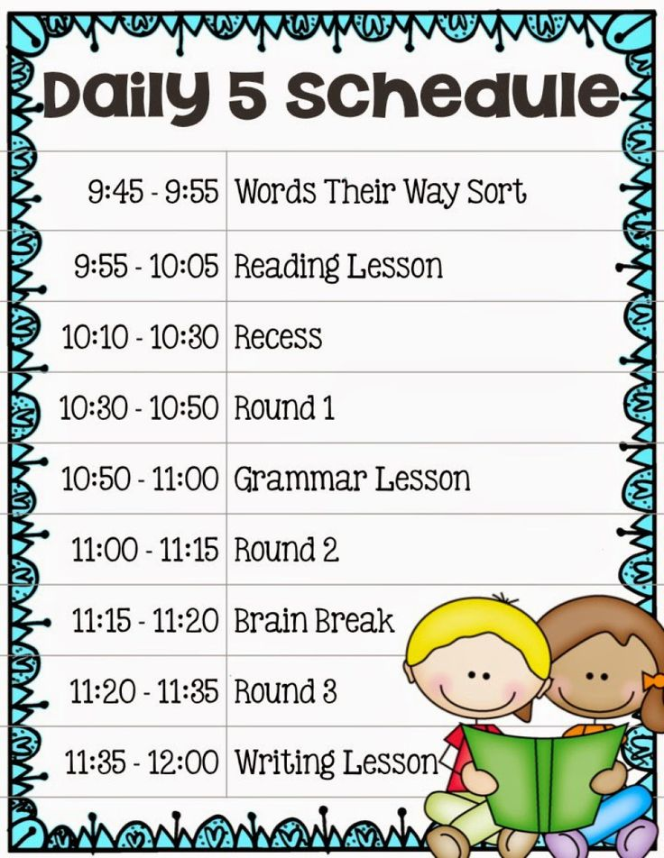 Setting Up A Daily 5 Schedule for Your Classroom > Core Inspiration