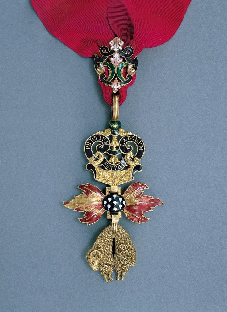 Order of the Golden Fleece (Austrian) - Badge belonged to Prince Paul Esterhazy (1786-1866) (circa 1830, Vienna) (Iparművészeti Múzeum, Budapest)