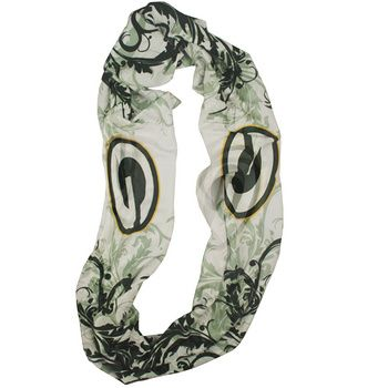 Green Bay Packers Women's Filigree Infinity Scarf at the Packers Pro Shop http://www.packersproshop.com/sku/4501367026/