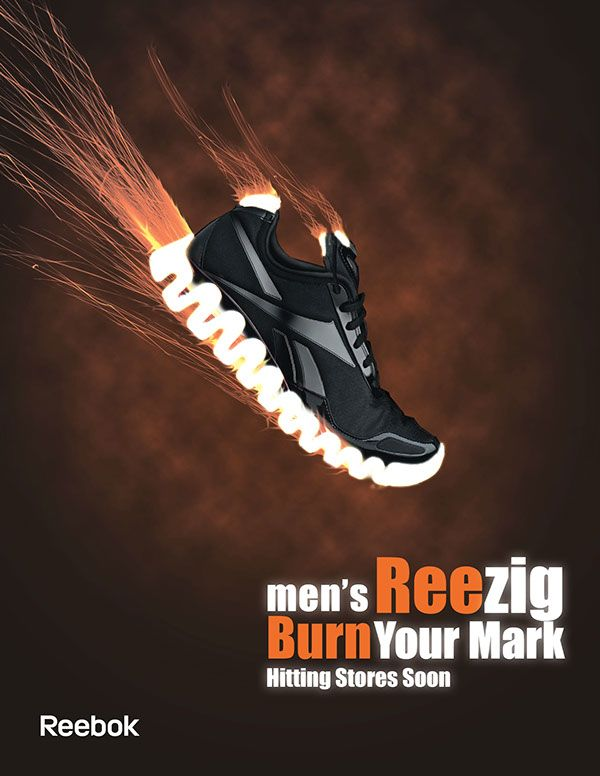 Campaign Ads: Reebok Reezig Athletic Shoes on Behance