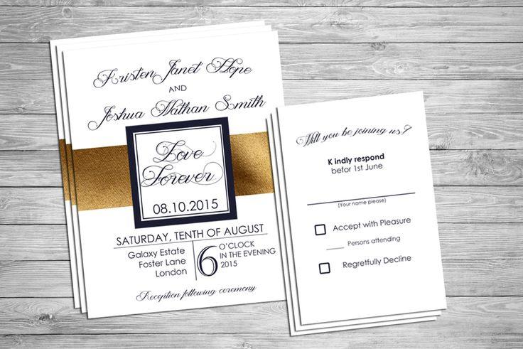 Custom Wedding Invitation, Rustic theme by SansDesignDeck on Etsy
