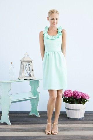 Super lovely Mint Ruffle Dress!: Mint Ruffle, Ruffle Dress, Style, Wedding Ideas, Color, Green Dress, Cute Bridesmaid Dresses, Perfect As