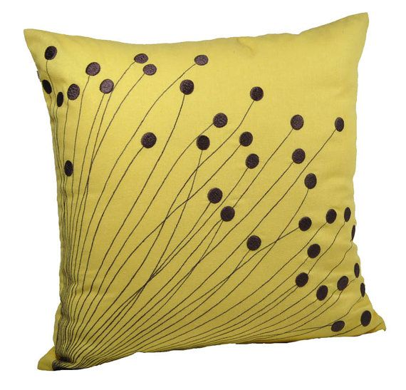 Pillow Cover Decorative Pillow Couch Pillow Citrine por KainKain