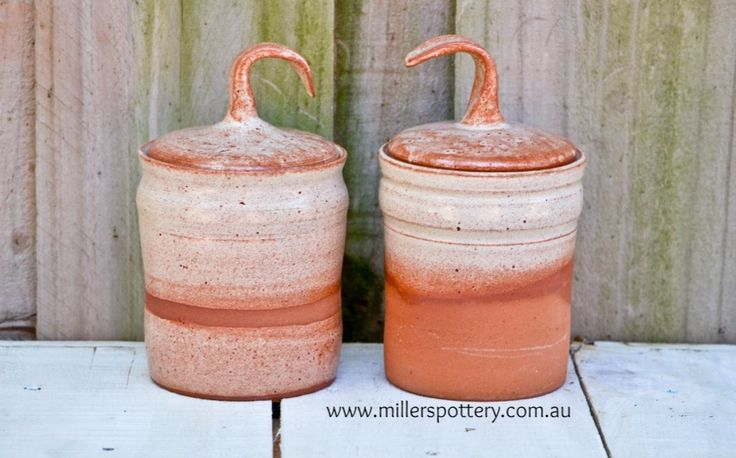 Australian handmade ceramic terracotta all purpose containters by www.millerspottery.com