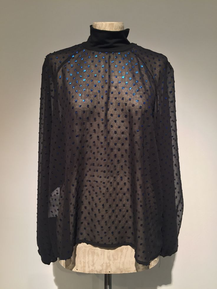 Moda fashion camicia donna nero pois blu imperial – Ferrara – Flow