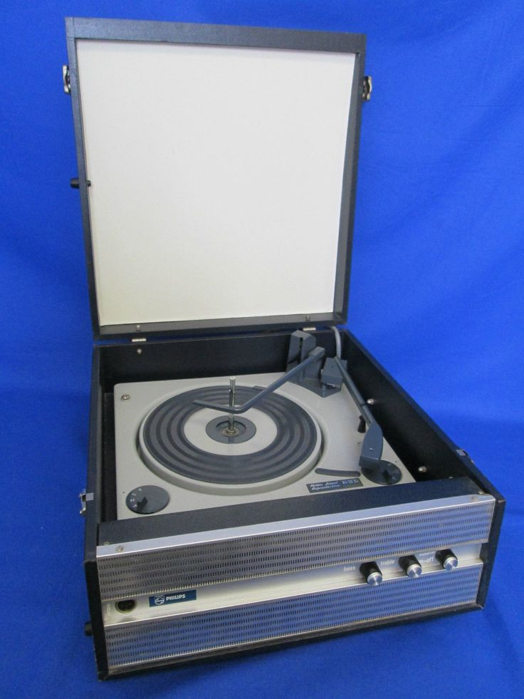 Vintage Philips Gf813 Transistorised Portable Record
