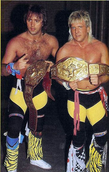 NWA Tag Team Champions the Rock and Roll Express- Ricky Morton and Robert Gibson