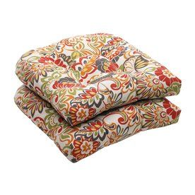 Pillow Perfect Zoe Multicolored Floral Seat Pad For Universal 450117