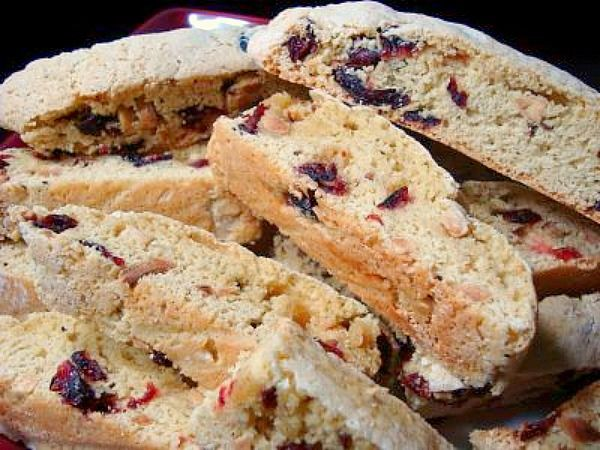 Cranberry Almond Biscotti by ItsJoelen, via Flickr - no oil or nutter