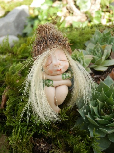 Ooak Miniature little magic fairy sculpt by ArtistaToscana on Etsy, $58.00