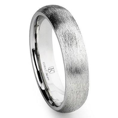 Cobalt XF Chrome 6MM Italian Di Seta Finish Dome Wedding Band Ring: Jewelry: Amazon.com