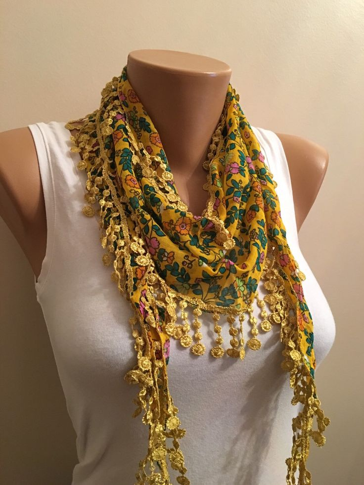 A personal favorite from my Etsy shop https://www.etsy.com/listing/269859216/yellow-floral-scarf-flower-scarf-womens