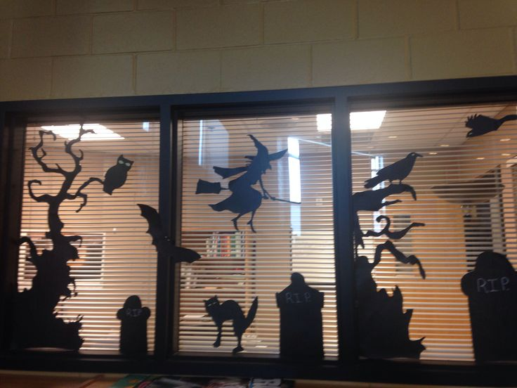 halloween display office window vela middle school - Halloween Display Ideas