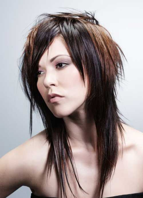 Best Brown Choppy Funky Long Hair ( vu sur : http://www.lovely-hairstyles.com )