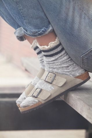 Be ready to jump on the bullet train to nerdville in this fugly sock and Barfenstock ensemble!  Hate this Birk style, so foogly