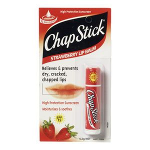 I just voted for Chapstick Strawberry SPF15 in the Priceline Pinky Awards  I use this heaps