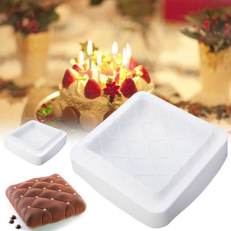 Square Silicone Cake Mold Chocolate Mousse Dessert Pastry DIY Baking Mould Tool #UnbrandedGeneric