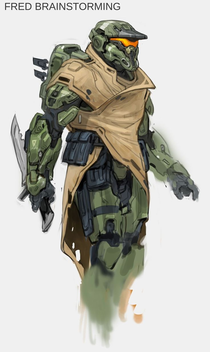 THE HUBBELL TELESCOPE : Halo 5 Concept Art : Spartan Fred-104