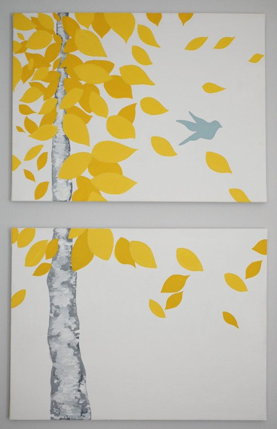 Original Acrylic Painting Freedom On 2 Separate Canvases