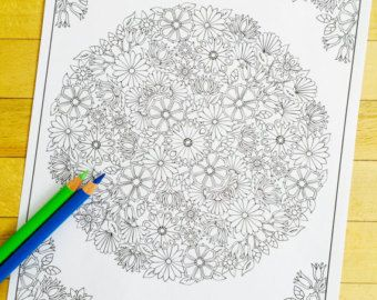 Hamsa Om - Hand Drawn Adult Coloring Page Print by MauindiArts