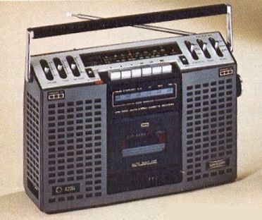 1976 - The birth of the boombox. This Marantz Superscope with AM/FM tuner, cassette recorder, 4 speaker system sold for 200 dollars.