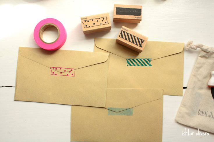 washi tape stamps