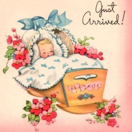 17 Best images about Vintage birth announcements – Vintage Birth Announcement