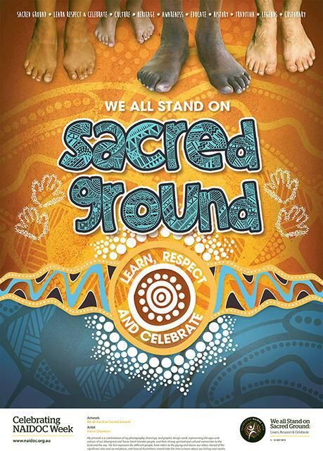 """""""@AIATSIS: #NAIDOC2015 poster released. Congrats to Elaine Chambers. Brilliant designs - great theme 2 be shared."""
