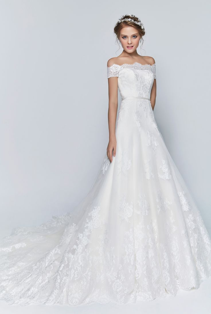 Off The Shoulder With Beautiful Neckline Bridal Boutique Singapore Wedding Gown