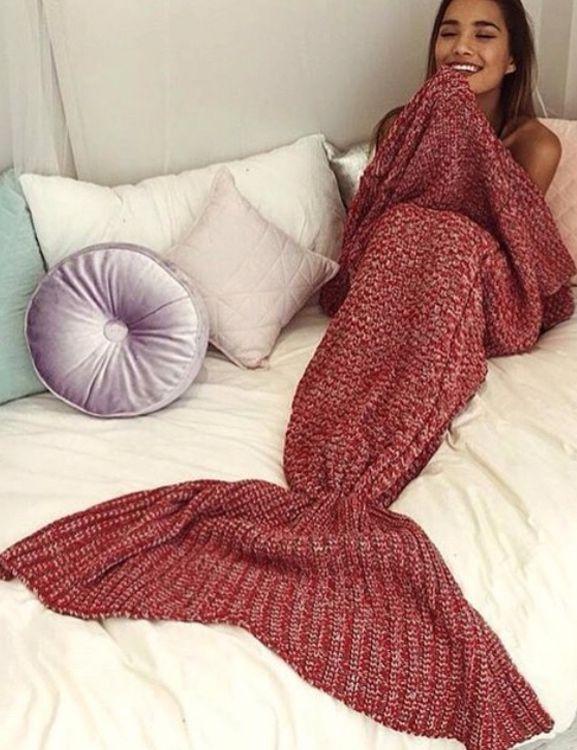 Mermaid Blanket Knitted Sleep,cheap Blanket,women's top ,red blanket