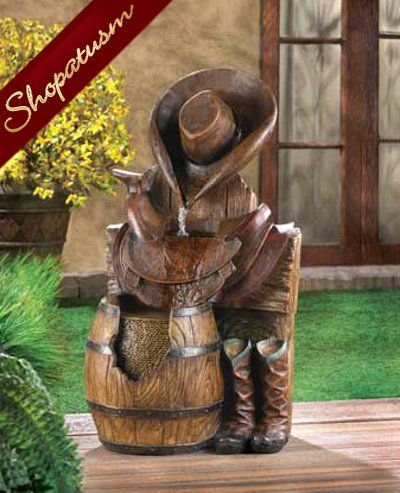 Lion Courtyard Indoor Outdoor Garden Water Fountain. See More. Western  Saddle And Boots Wild West Decorative Fountain