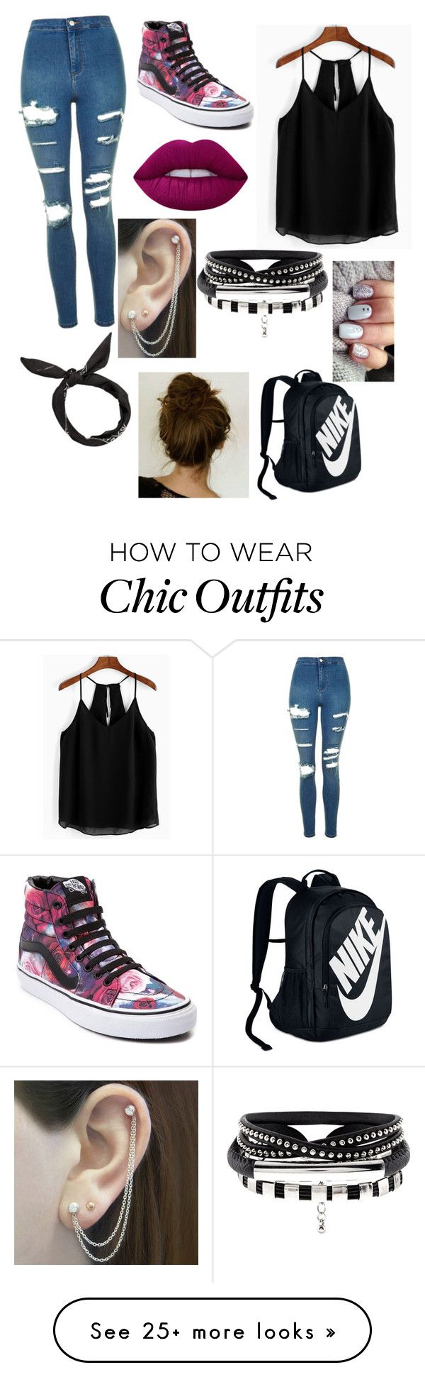 """""""Ambers New Book Character?"""" by midnightsun0706 on Polyvore featuring Topshop, Vans, Lime Crime, Embers Gemstone Jewellery and NIKE"""