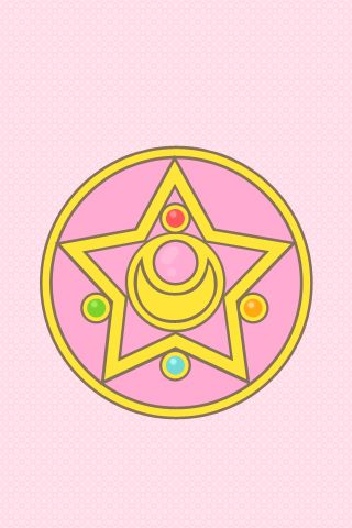 """here are some sailor moon crystal star iphone wallpapers i just made. feel free to use them!  nerdy thing you can do: shout ""crystal star power make-up!"" while swiping your hand to unlock, and the brooch opens. heh.""    ** credit to naoko takeuchi~~      (Source: mis0happy)"