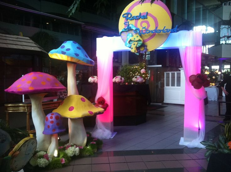 Bat Mitzvah Event Decor Alice In Wonderland Theme Party
