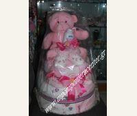 Τούρτα για νεογέννητο κοριτσάκι τρίπατη