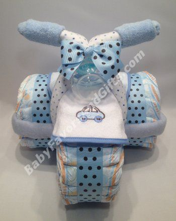 Tricycle Diaper Cake for Boy - Baby Boy - Diaper Cakes - by Babyfavorsandgifts.com