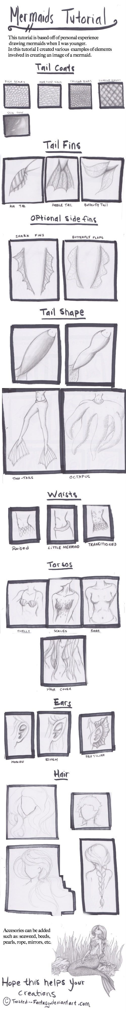 Mermaid Tutorial by Twisted--Fantasy on deviantART by marianne